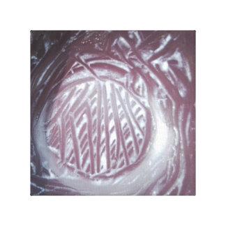 Scraped Ice Cream Bowl Textural Art Photo Canvas