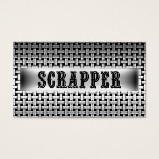 Scrapper Metal Look Business Card