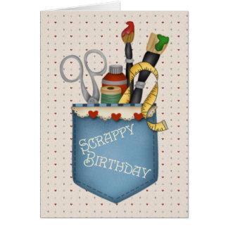 Scrappy Birthday Card