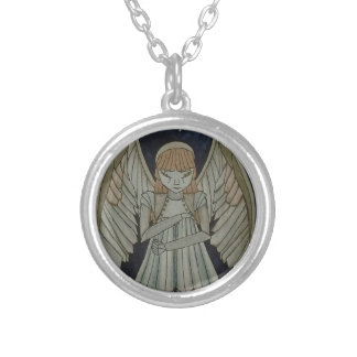 scrapyard angel silver plated necklace