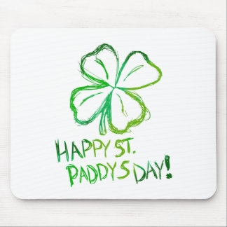 Scratch Card Art - St. Paddy's Day Mouse Pad
