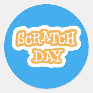 Scratch Day Logo Sticker