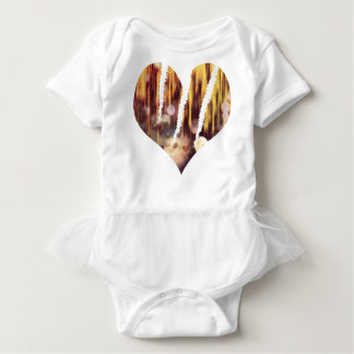 Scratch hart baby bodysuit