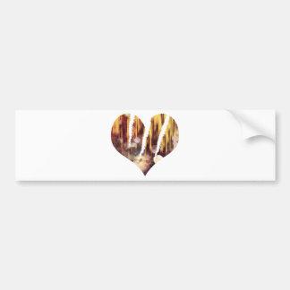 Scratch hart bumper sticker