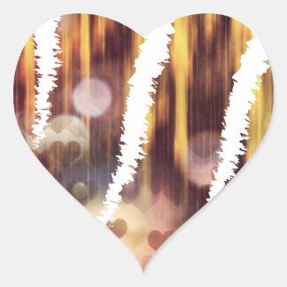 Scratch hart heart sticker