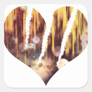 Scratch hart square sticker