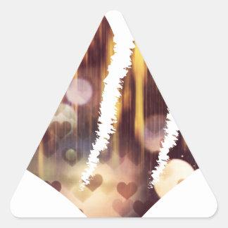 Scratch hart triangle sticker