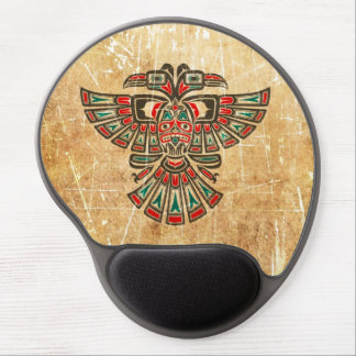 Scratched and Worn Haida Two Headed Spirit Bird Gel Mousepad