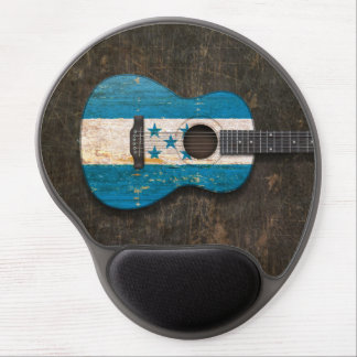 Scratched and Worn Honduras Flag Acoustic Guitar Gel Mouse Pads