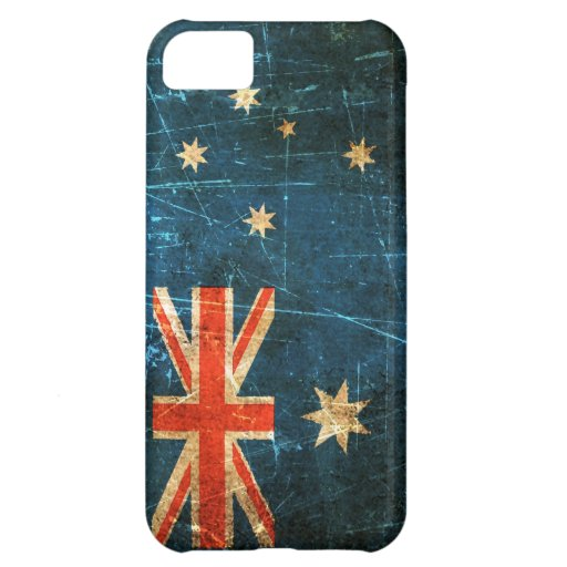 Scratched and Worn Vintage Australian Flag iPhone 5C Case