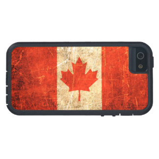 Scratched and Worn Vintage Canadian Flag Case For The iPhone 5