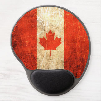 Scratched and Worn Vintage Canadian Flag Gel Mouse Pad