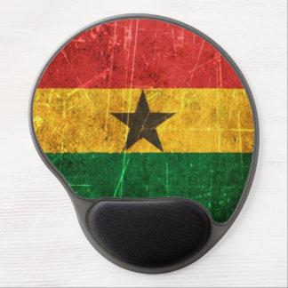 Scratched and Worn Vintage Ghana Flag Gel Mouse Pad