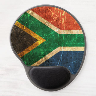 Scratched and Worn Vintage South African Flag Gel Mouse Pad