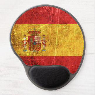 Scratched and Worn Vintage Spanish Flag Gel Mouse Mats