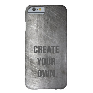 Scratched Brushed Metal Texture Barely There iPhone 6 Case