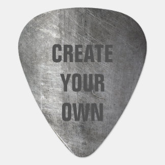 Scratched Brushed Metal Texture Guitar Pick