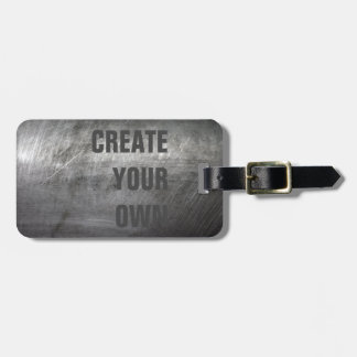 Scratched Brushed Metal Texture Luggage Tag