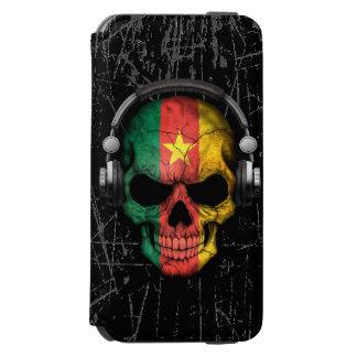 Scratched Cameroon Dj Skull with Headphones Incipio Watson™ iPhone 6 Wallet Case
