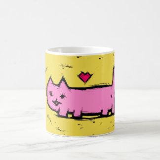 Scratched cat coffee mug