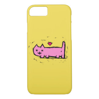 Scratched cat iPhone 7 case