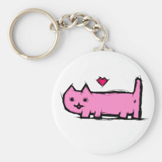 Scratched cat keychain
