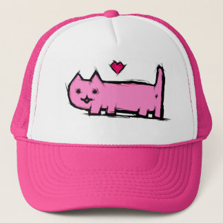 Scratched cat trucker hat