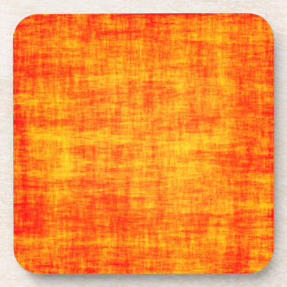 Scratched orange coaster