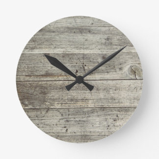 Scratched Wooden Texture Design Wall Clock