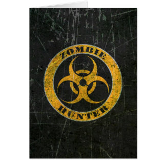 Scratched Yellow Bio Hazard Zombie Hunter Cards