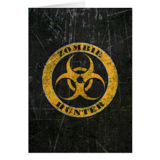 Scratched Yellow Bio Hazard Zombie Hunter Cards