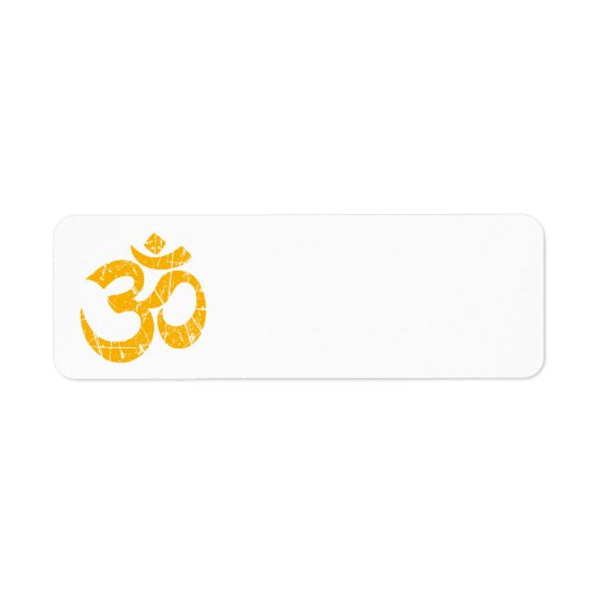 Scratched Yellow Yoga Om Symbol