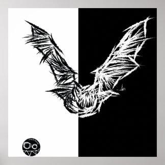 Scratchy Bat poster/print 1 Poster
