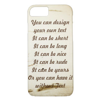 Scratchy Design with or w.o. Text iPhone 8/7 Case