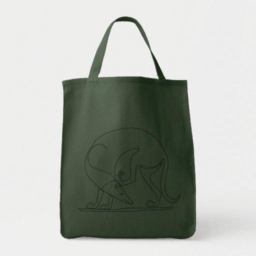 Scratchy Spartan Hound! Canvas Bags