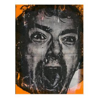 Scream face postcard