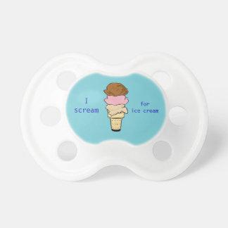 Scream for ice cream pacifier