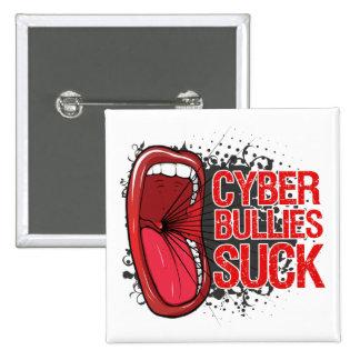 Scream It Cyber Bullies Suck 2 Inch Square Button