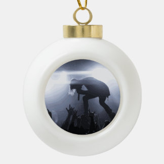 Scream it out! ceramic ball christmas ornament