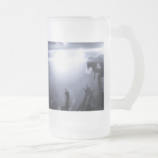 Scream it out! frosted glass beer mug