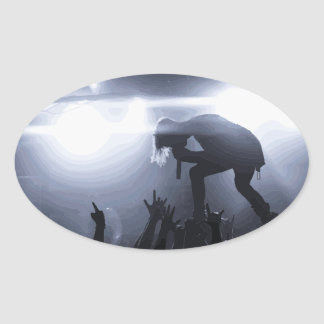 Scream it out! oval sticker