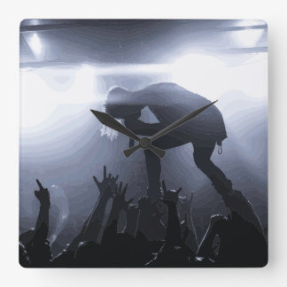 Scream it out! square wall clock