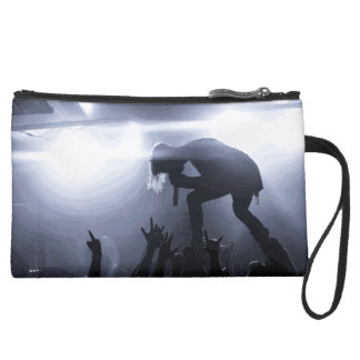 Scream it out! suede wristlet