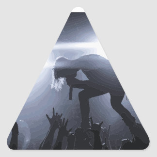 Scream it out! triangle sticker