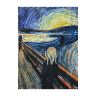 Scream on a Starry Night Canvas Print