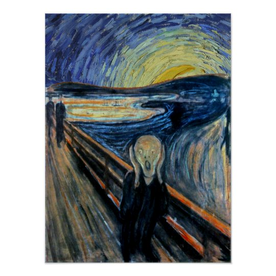 Scream on a Starry Night Poster