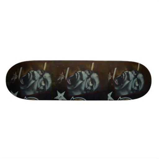 Scream pattern - Graffiti Skateboard