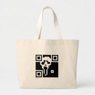 Scream QR Code Large Tote Bag