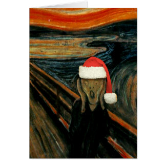 Scream Santa Note Card