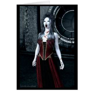 Scream Vampire Halloween Party Invitation Card